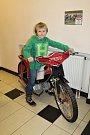 Nejmladší slánský plochodrážník Bruno Belán