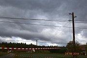 Polámané stožáry na Rakovnicku.