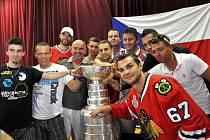 Michael Frolík a oslava Stanley Cupu v Kamenných Žehrovicích.