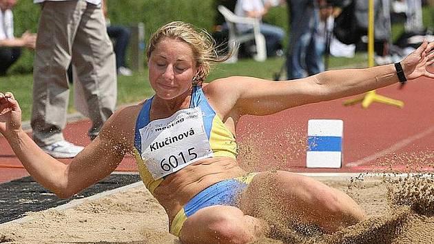 Atletka Eliška Klučinová na TNT - Fortuna meetingu v Kladně.