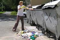 PO POPELÁŘÍCH. Taťána Rysová pravidelně bere do rukou smetáček a lopatku. Všechen odpad, který se válí po zemi, totiž popelářské vozy neodvezou.