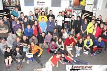 VŠICHNI ÚČASTNÍCI  a většina pořadatelů prvního zimního závodu Přežijeme! Survival Race