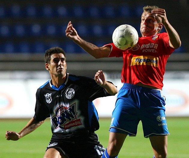 Plzeň - Kladno 1:0, vlevo Lukáš Zoubele