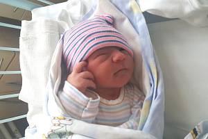 DOMINIK OPATŘIL, KRALUPY NAD VLTAVOU. Narodil se 28. října 2018. Po porodu vážil 2,91 kg a měřil 48 cm. Rodiče jsou Lucie Opatřilová a Petr Opatřil. (porodnice Slaný)