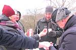 Cílem Novoročního pochodu byla rozhledna Vysoký vrch.