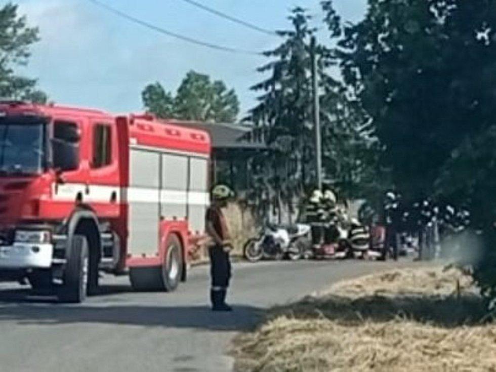 Dopravní nehoda motorkáře v Jarpicích.