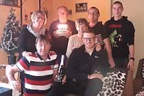 Václav Lahoda s rodinou
