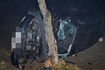 Nehoda se stala ve směru ze Zlonic u Bakova, který je místní částí obce Beřovice.