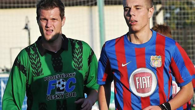 Dominik Santler (vpravo) v dresu Přední Kopaniny.