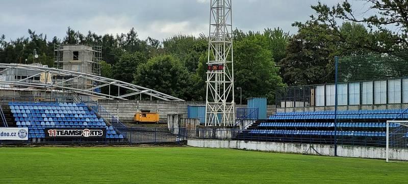 Nová časomíra na fotbalovém stadionu v Kladně.