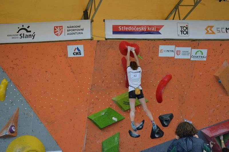 Z mezinárodního mistrovství České republiky v boulderingu 2021.