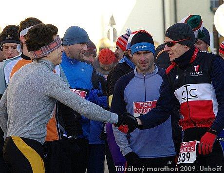 Tříkrálový maratón, 8. ročník - Unhošť, 3.1.2009