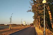 Lokalita Slaný Sever. Zmíněné pozemky se nachází v levé části na snímku.