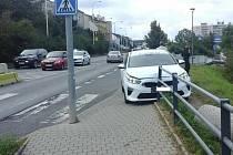 Auto bez řidiče v Kladně.