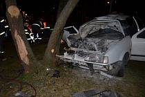 Nehoda v Unhošťské ulici.