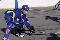 Strašecký veterán Dan Daenemark hrál skvěle - Ďáblům vstřelil tři branky.