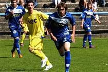 Teplice - Kladno (v modrém) U17 - domácí šťastně vyhráli 3:2.