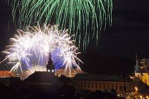 Novoroční ohňostroj čeká v pátek nejen na obyvatele Slaného