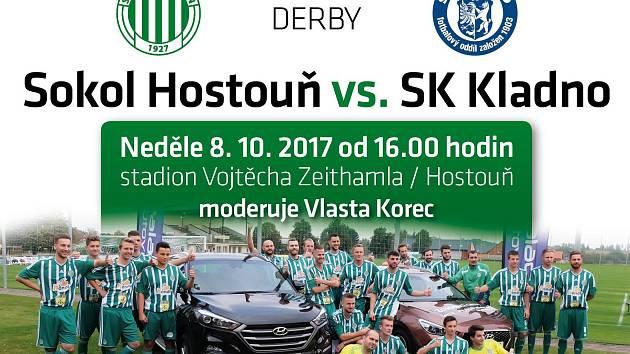 pozvánka na derby Hostouň - Kladno.