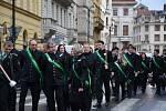 Havíři z Kladenska uctili svatou Barboru.
