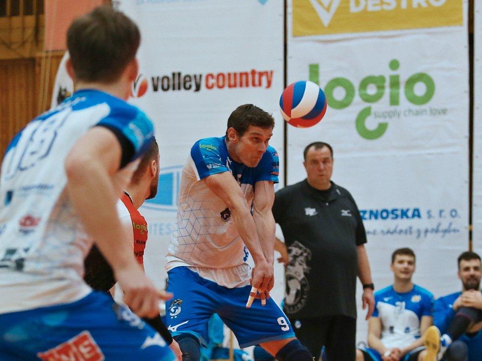 Kladno volejbal cz - Brno 3:0, předkolo play off EL Volejbalu 25. 2. 2021