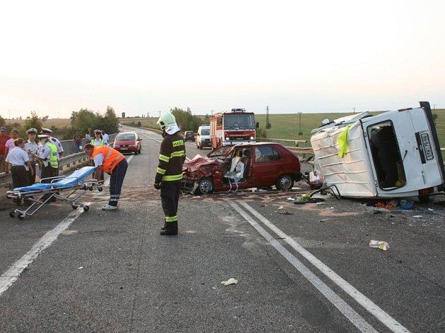 Nehodu nedaleko Třebíze zavinil opilý řidič.
