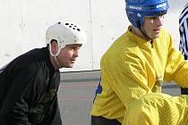 Třebízský Martin Bálek (vpravo) i Jan Cajthaml (Beer Stars) byli o víkendu střelecky úspěšní a jejich týmům se hodně daří.