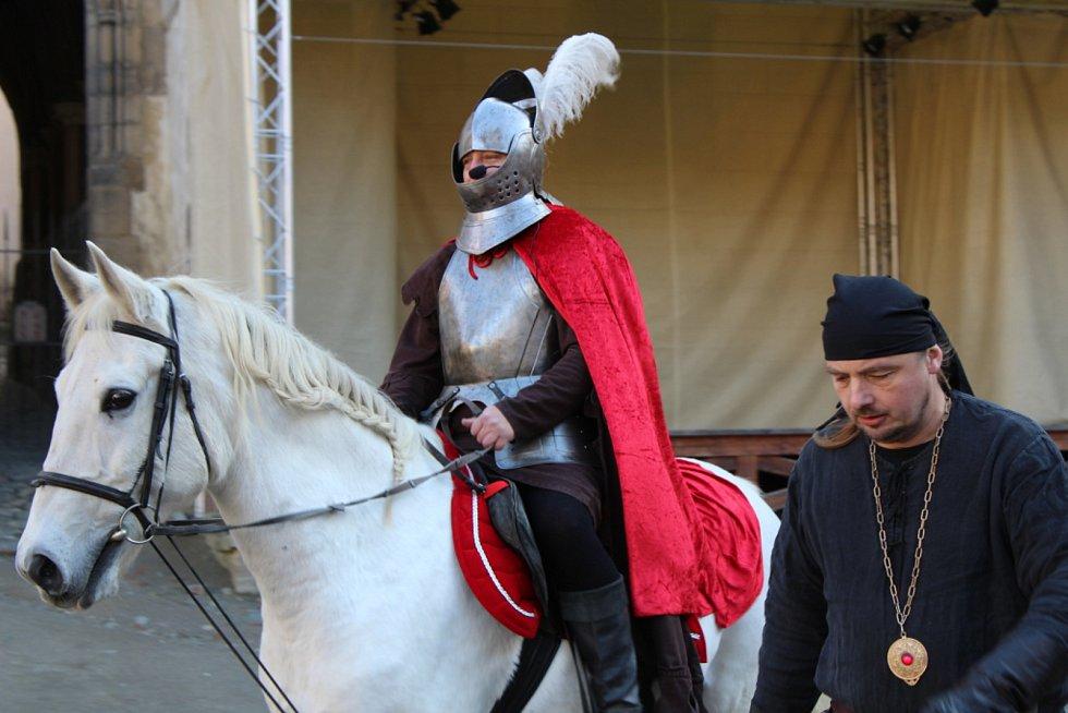 Svatomartinskou tradici si lidé připomněli na Křivoklátu.