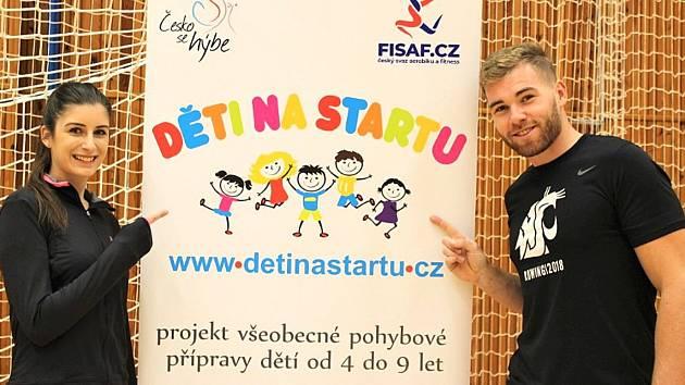 Lukáš Helešic jako nový ambasador projektu Děti na startu v Kladně.