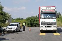 Přetížení nebylo zjištěno ani u jednoho z pěti kontrolovaných nákladních vozidel.