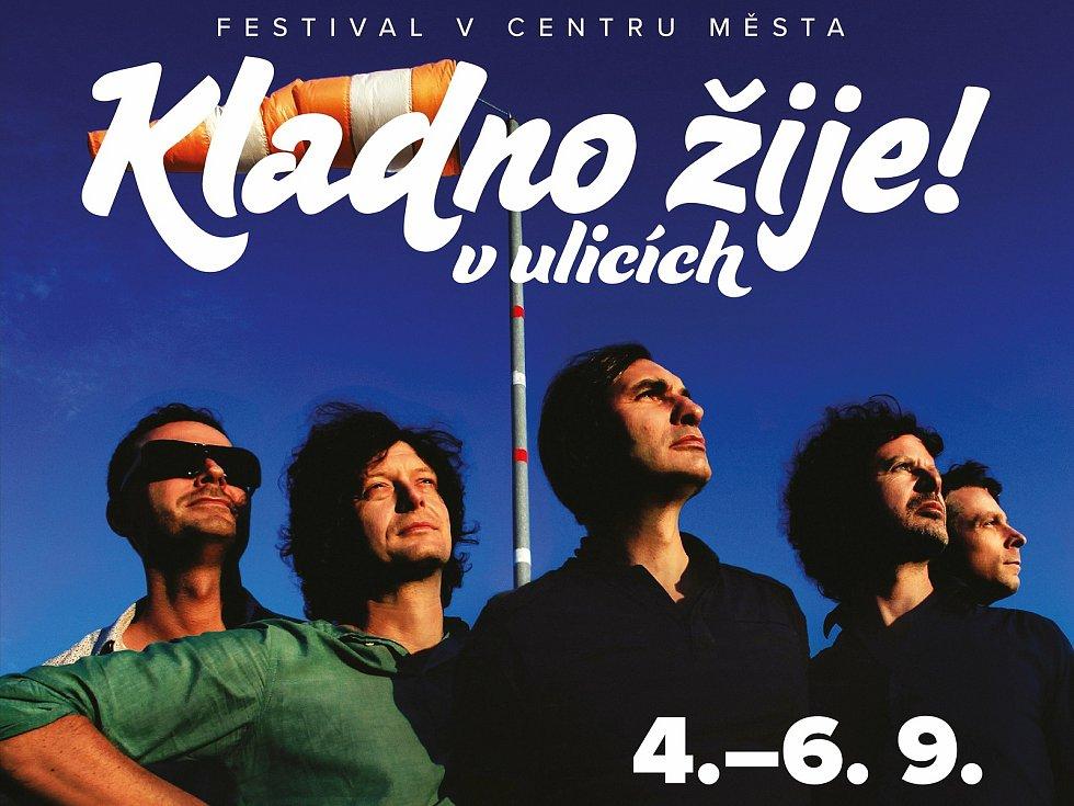 Plakáty k třídennímu festivalu v září 2020 v Kladně.