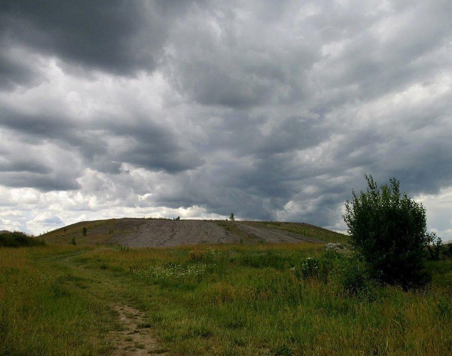 Halda neboli odval po dole Tuchlovice (dříve Nosek) po rekultivaci