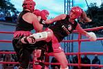 Real Fight Night. Galavečer boxu a kickboxu proběhl v zajímavém prostředí zahrady u kladenského zámku 15. 9. 2012