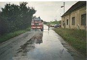 Povodně z roku 2002 v Hýskově.