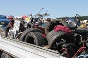 Letní srpnová moto burza na letišti ve Velké Dobré.
