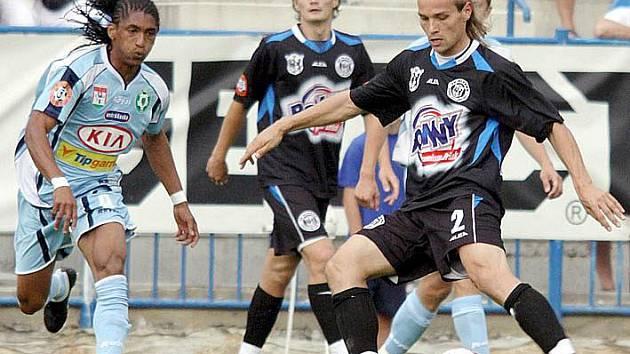 Tomáš Strnad (u míče) se v Příbrami dočkal prvního gólu v Gambrinus lize.