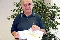 Milan Šucha z Kladna,  vítěz 10. kola Fortuna ligy.