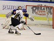 Vítkovický brankář Kubáň neuvěřitelně chytil...// Alpiq Kladno – HC Vítkovice 2:2, 2. utkání předkola play off Noen extraligy, 15.3.2012