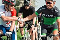 Milan Silný (vlevo) Nejúspěšnější sportovec Slaného 2013, který se pyšní i titulem Hvězda Deníku 2017, se postaví na start trasy, která je oslavou 100 let vzniku republiky. Projekt podpoří například i paralympionik Jiří Ježek (vpravo).