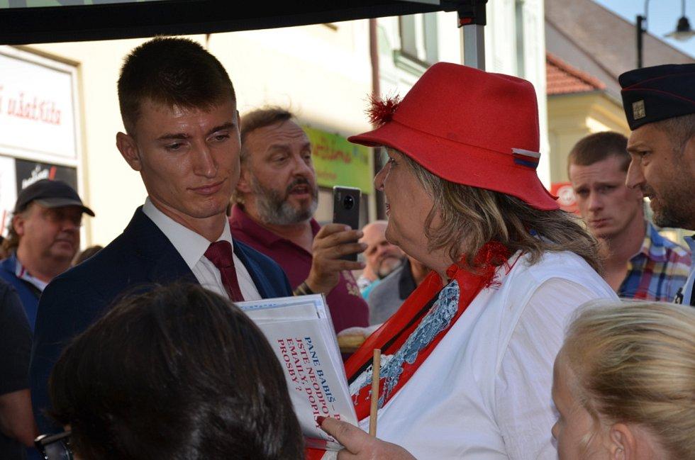 Andrej Babiš ve Slaném.