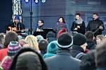 Slánské vánoční zpívání na Masarykově náměstí 2016