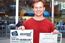 Loni v červnu se návštěvníkem číslo 777 777 stal Tomáš Čepelák z Prahy. Štěstí se na něj usmálo i když do kladenského areálu vodního světa zavítal poprvé v životě.