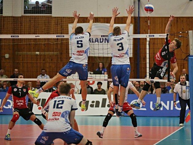 Kladno volejbal cz - Jihostroj České Budějovice 2:3, finále Extraliga volejbalu (stav 0:1), Kladno, 15. 4. 2017