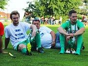 Zápas kladenských hokejistů pro kamaráda Petra Křepelku na Braškově.