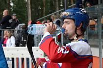 Slavnostní otevření zrekonstruované hokejbalové arény Kladno. Ondřej Pražák