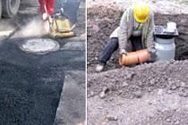 FOTODOKUMENTACE stavby kanalizace z podzimu loňského roku.