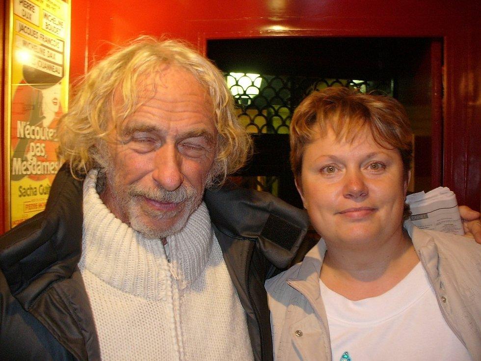 Alena Podolská s Pierrem Richardem.
