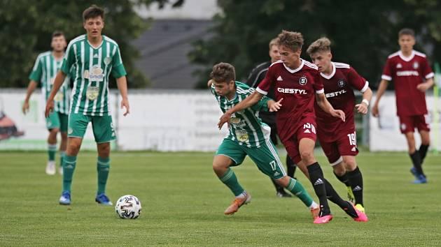 Sokol Hostouň - Sparta Praha U19 2:2, přátelské přípravné utkání 21.7. 2021