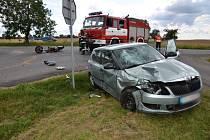 Nehoda se stala krátce po 14. hodině u Buštěhradu.