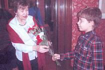 MILICA GEDEONOVÁ se svým kladenským žákem Vladimírem Jelínkem.